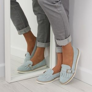 Shoes - Blue Loafers